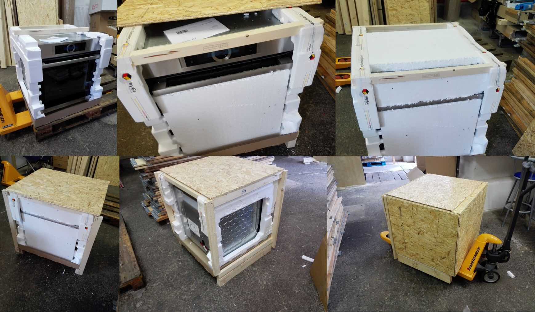 oven packed in 30min, secure for its long international shipment