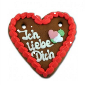 Bavarian Valentine's Day Gifts - Gingerbread Hearts