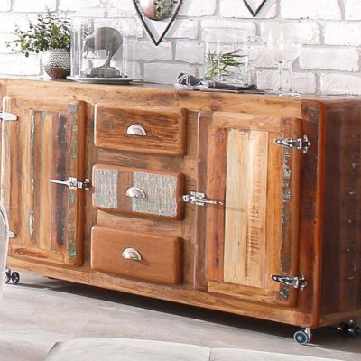 Sideboard 'Fridge' made of recycled wood